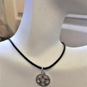 5 Star Pentagram Adjustable Choker Necklace #1319